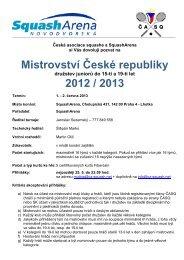 propozicích MRJD 2013 - Česká asociace squashe