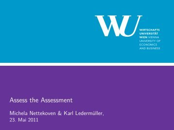 Assess the Assessment