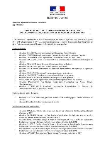 Procès verbal du 28-07-11 - 0,06 Mb - Préfecture de l'Yonne