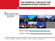 THE ESSENTIAL CHECKLIST FOR TRANSPORTATION CONTRACTS