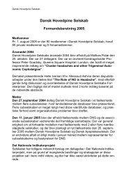 Formandsberetning - Dansk Hovedpine Selskab