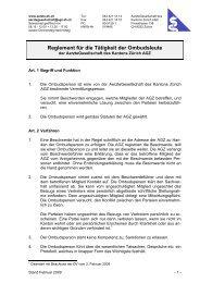 Reglement für die Tätigkeit der Ombudsleute