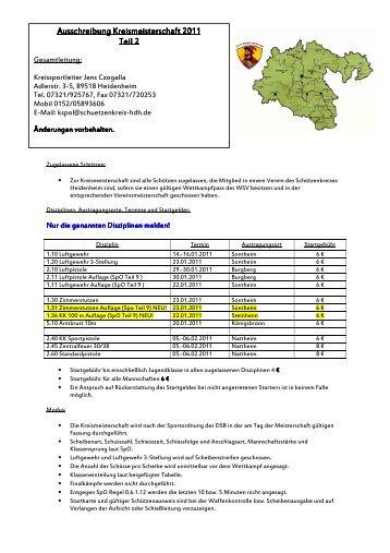 Ausschreibung KM 2011 Teil 2