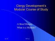 Clergy Development's Modular Course of Study - USA / Canada ...