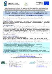 Dolnośląska Agencja Rozwoju Regionalnego S.A. wraz z Fundacją ...