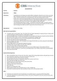 Reporter Department: ZDNet Job purpose - CBS Interactive UK