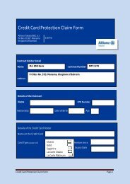 Credit Card Protection Claim Form - BMI