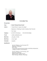 Prof. Dr. Zeinab Mohamed Kamel Ismail - Kasr Al Ainy School of ...