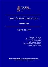 RELATÓRIO DE CONJUNTURA: EMPRESAS - Nuca - UFRJ