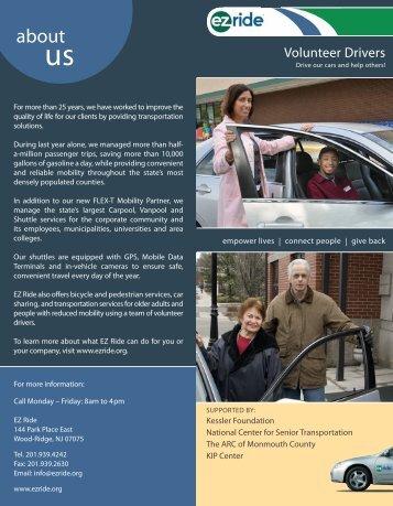 Volunteer Drivers - EZ Ride