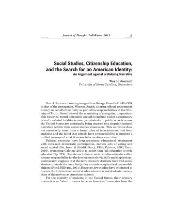 Social Studies, Citizenship Education, and the Search for an ...