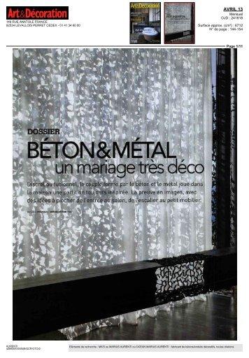 BETON &M ETAL, - Béton ciré