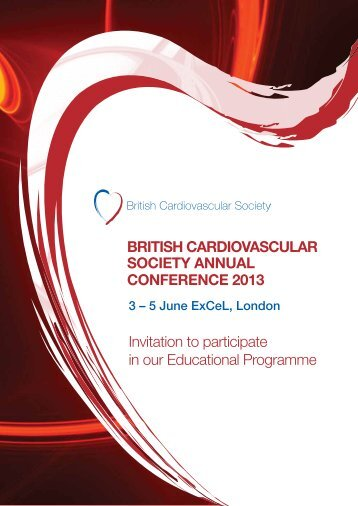 BRITISH CARDIOVASCULAR SOCIETY ANNUAL CONFERENCE ...