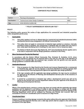 Sign Design Guidelines - Priority Permits Ltd.