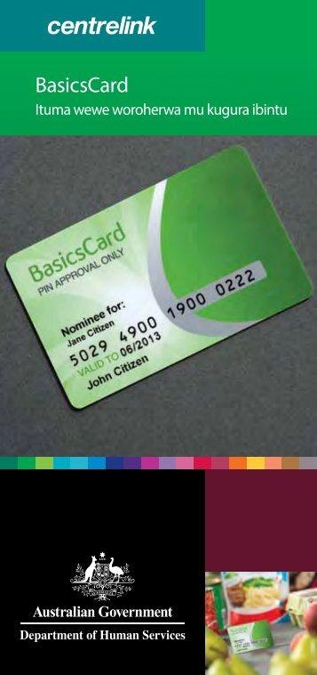 BasicsCard - Making purchases easy for you - Kirundi