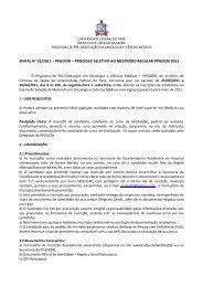 edital do mestrado em oncologia e ciências médicas - Universidade ...