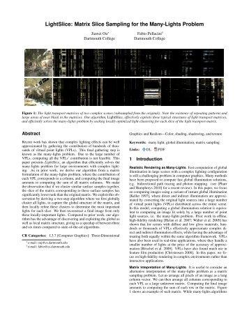 LightSlice: Matrix Slice Sampling for the Many-Lights Problem