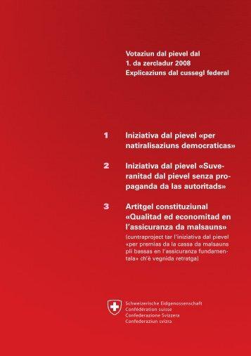 1 2 3 Iniziativa dal pievel Â«per natiralisaziuns democraticas ...