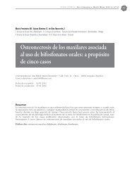 Osteonecrosis de los maxilares asociada al uso de bifosfonatos orales