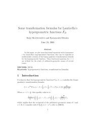 Some transformation formulas for Lauricella's hypergeometric ...