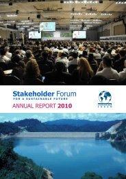 SFAnnualReport2010-1 - Stakeholder Forum
