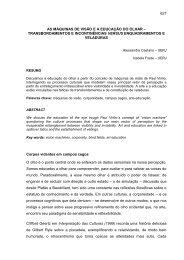AS MÁQUINAS DE VISÃO E A EDUCAÇÃO DO OLHAR ... - anpap