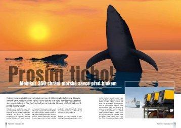 Prosím ticho! Mobilair 350 chrání mořské savce před hlukem