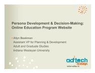 Persona Development & Decision-Making: Online Education ...
