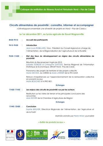 Programme du colloque - 01/12/11 (PDF, 229Ko) - A PRO BIO