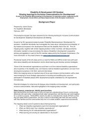 Disability and Development - background paper - Source