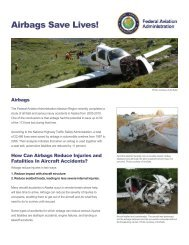 FAA Flyer-Airbags Save Lives - AmSafe