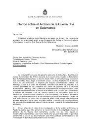Informe sobre el Archivo de la Guerra Civil en Salamanca
