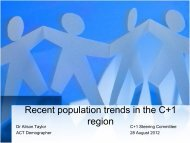 Recent population trends in the C+1 region - Chief Minister and ...