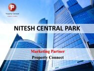 NITESH CENTRAL PARK - Property Connect Search - Propconnect.in