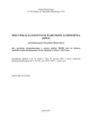 SIWZ _umundurowanie - Gdynia