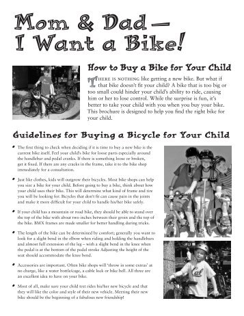Mom & Dad – I Want a Bike! - Safe Routes to School