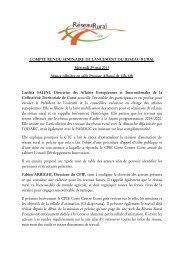 Compte rendu RRRC plénière 29 05 2013 - Réseau Rural Français