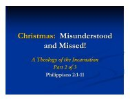 Christmas: Misunderstood and Missed!