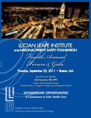 FourthAnnual Forum&Gala - National Patient Safety Foundation