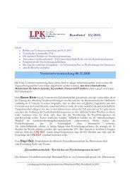 Rundbrief 03/2010 - Landespsychotherapeutenkammer Rheinland ...