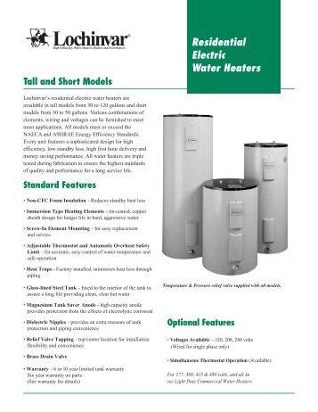 residential electric water heaters lochinvar - Lochinvar Water Heater