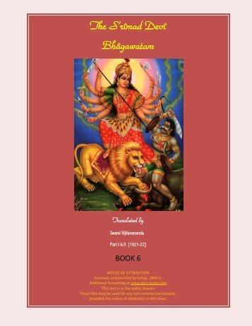 The S'rîmad Devî Bhâgawatam - Devi Durga