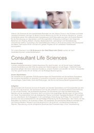 Consultant Life Sciences