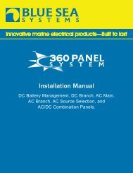 Installation Manual - Blue Sea Systems
