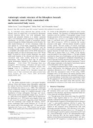 Anisotropic seismic structure of the lithosphere beneath the Adriatic ...