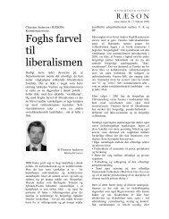 Foghs farvel til liberalismen - Ræson