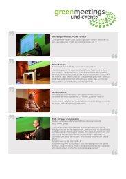 Impressionen 2013 - Green Meetings & Events