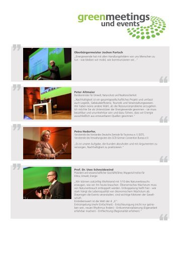 Impressionen 2013 - Green Meetings & Events