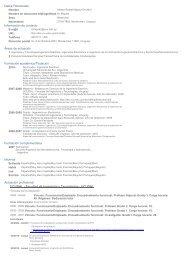 Curriculum Vitae - Resume - Departamento de Ingeniería Eléctrica