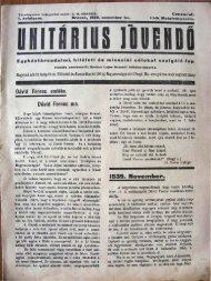1939. november - Magyarországi Unitárius Egyház